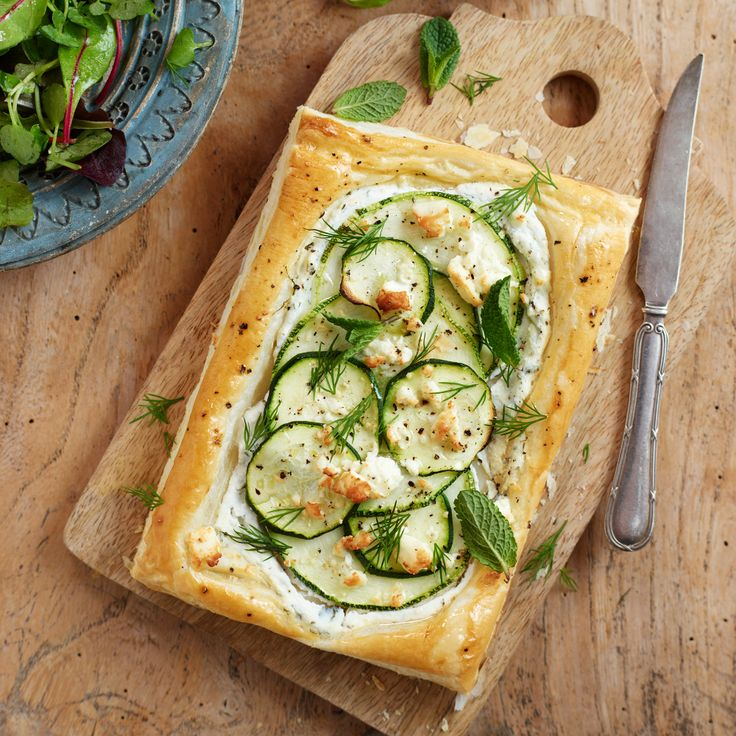 Marrow & Feta Tart