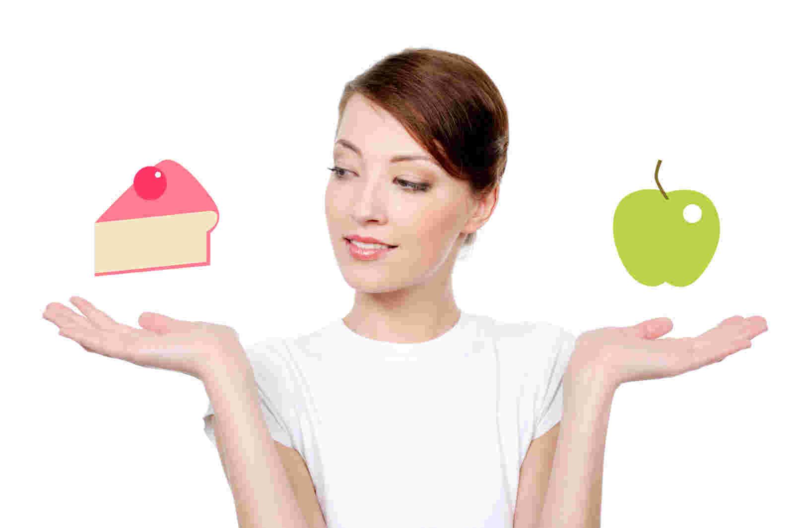 cake vs apple