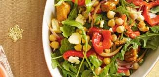 Chicken Rocket and Chickpea Salad
