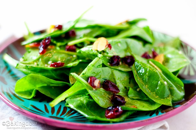 Cranberry and Spinach Salad