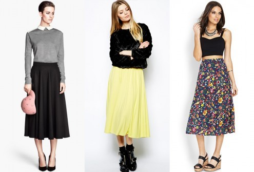 tea length skirts