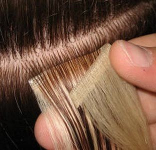 Clip-in vs Bonding  These are a number of methods used for attaching hair extensions. Clip-in is typically the method used by people with Caucasian texture type of hair and is the least permanent of the methods involving a simple clip-in method. They can be worn the whole day but should be removed when sleeping.  Bonding involves using glue to attach the hair to a section of hair and combing over. The glue usually allows you to use keep the extensions in for a couple of weeks before it starts to loosen.