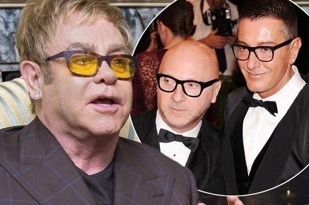 Elton John vs Dolce Gabbana