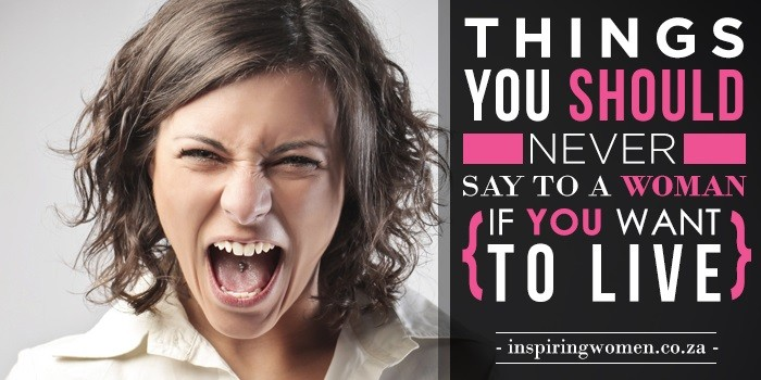 Say to woman