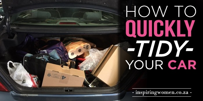 how to quickly tidy up your car