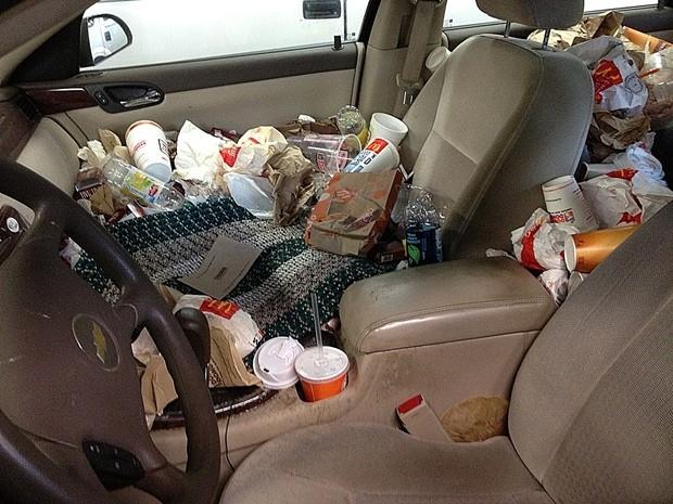 Messy car